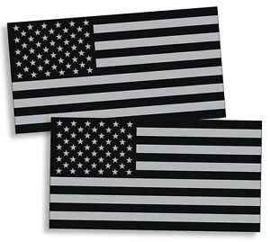 Black Ops Gray Usa Flag Sticker American Military Car Truck Decal Subdued Helmet