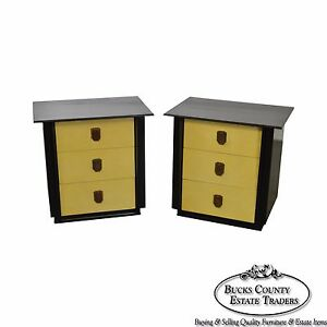 Kent Coffey The Park Avenue Collection Pair Of Mid Century Nightstands Chests