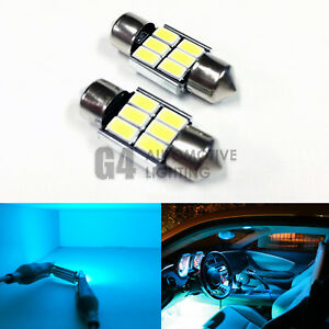 2x De3175 31mm Festoon Led Blubs 5730 Smd Error Free Canbus Dome Map Light Teal