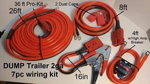 2ga 36 Ft Hi Amp Universal Quick Connect Wiring Kit Dump Trailer Mounted Winch