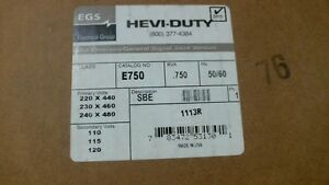 Nib Hevi duty E750 750va 075kva Control Transformer 50 60hz 60 Day Warranty