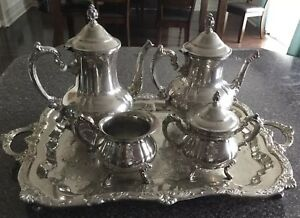 International Silver Co Silver Plated 5 Piece Tea Coffee Set
