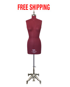 Female Dress Form Sewing Mannequin W Collapsible Shoulders Adjustable Height Sz6