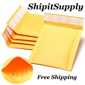 1 500 000 4x8 Yellow Kraft Bubble Padded Envelopes Mailers Fast Shipping