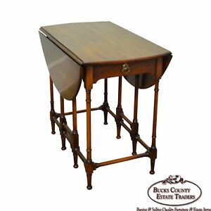 Statton Private Collection Solid Cherry Drop Leaf Gate Leg Side Table
