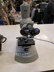 Carl Zeiss 47 30 12 9902 Microscope With Stage Loaded With Lenses