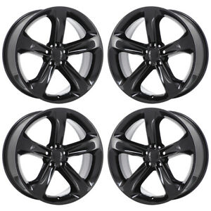 20 Dodge Challenger Charger Rt Black Wheels Rims Factory Oem Set 2529 Exchange