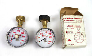 Pasco Water Pressure Test Gauge With Filter Washer 0 To 300 Pound Lot Of 2