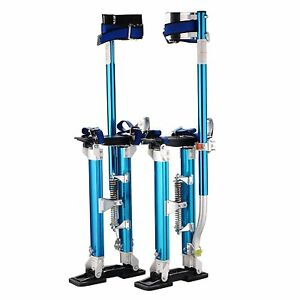 Blue Aluminum Stilt Tool Skywalker Height Adjust Drywall Painting Electrical New