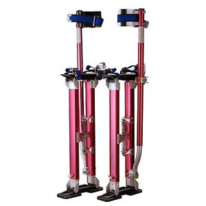 Red Aluminum Stilt Tool Skywalker Height Adjust Drywall Painting Electrical Work