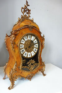 Antique Boulle Clock Old Clock Boulle Mantel Clock