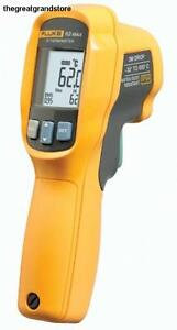 Fluke 62 Max Infrared Thermometer Aa Battery 20 To 932 Degree F Range Surface