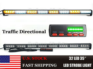 35 32 Led Traffic Advisor Emergency Warning Truck Strobe Light Bar Amber