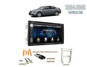 For 2004 2006 Nissan Maxima Double Din Car Stereo Kit Bluetooth Touchscreen Dvd
