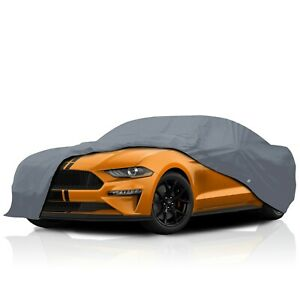 csc 4 Layer Waterproof Full Car Cover For Ford Mustang Mach 1 1971 1972 1973