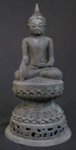 Antique Sitting Buddha Bronze Statue From Burma Antique Buddha Statues