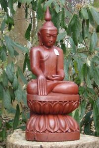 Antique Wooden Sitting Buddha Statue From Burma Antique Buddha Statues