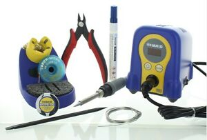 Hakko Soldering Station Bundle Fx888d Chp 170 Cutter Flux Wire Solder Wick More