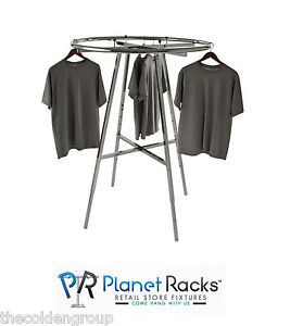 Chrome 42 Diameter Folding Clothing Garment Display Rack