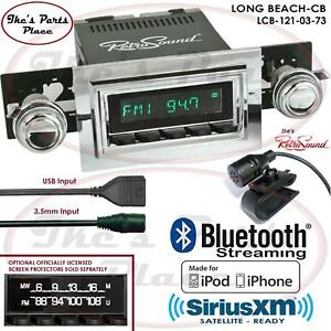 Retrosound Long Beach Cb Radio Bluetooth Ipod Usb Mp3 3 5mm Aux In 121 03 Ford