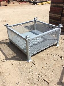 Heavy Duty Stackable Storage Bin W Lifting Lugs 1 2 Size
