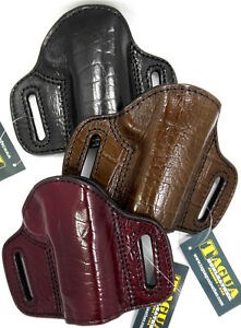 TAGUA PREMIUM OWB Open Top Leather Belt Holster for 4