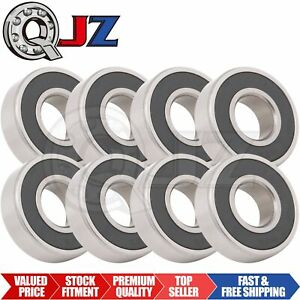 8x Ss6203 2rs Ball Bearing 17mm X 40mm X 12mm Rubber Sealed Stainless Steel Qjz