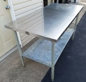 Heavy Duty 4 Foot Stainless Steel Table With Under Shelf 4 Ft X 30 D