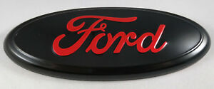 7 Red Black Ford 04 14 F150 Rear Grill Tailgate Emblem Oval Decal Badge