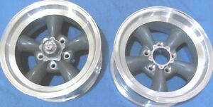 15 American Racing Style 105 2 Wheels Only 15x7 Gunmetal With Polished Lip
