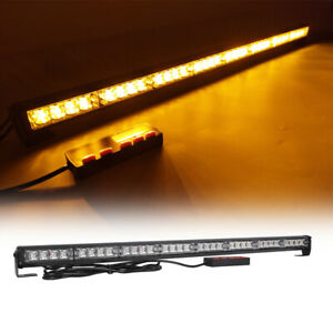 35 32 Led Amber Traffic Advisor Emergency Flash Warning Strobe Light Bar Yellow