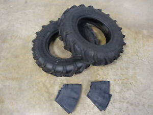 Two New 7 50 16 Bkt As 504 Farm Tractor Lug Tires With Tubes 8 Ply