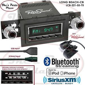 Retrosound Long Beach Cb Radio Bluetooth Ipod Usb Mp3 3 5mm Aux In 221 55 Ford
