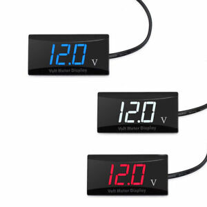 Mini Led Digital Voltmeter Panel 8 16v Voltage Volt Meter Gauge F Car Motorcycle