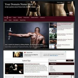 Fitness Online Affiliate Business Website For Sale Free Domain Name Hosting