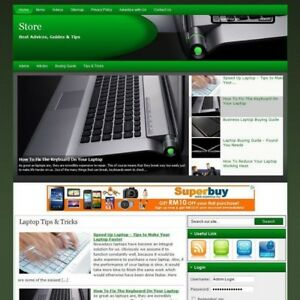 Laptop Notebook Online Business Website For Sale Free Domain Name Hosting Now