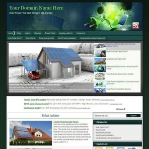 Power Solar Panel Green Business Website For Sale Best Way Earn Money At Home