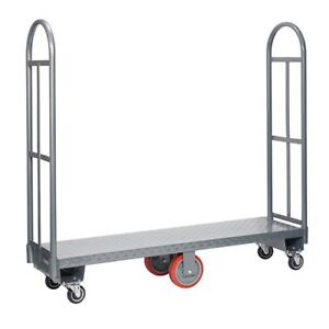 Narrow Steel Deck Truck Dolly Utility Delivery Cart Ware House 2000lb U Boat New