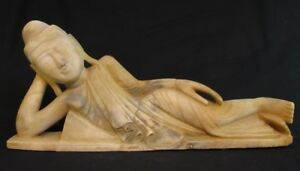18th Century Antique Reclining Buddha Statue From Burma Antique Buddha Statues