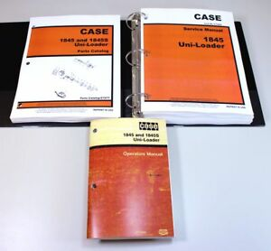 Case 1845 Uni Loader Skid Steer Service Parts Operators Manual Catalog Shop Book