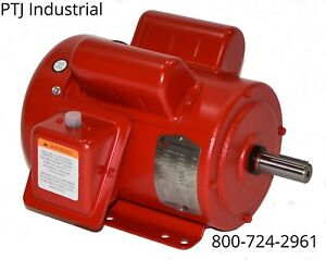 2 Hp Electric Motor 145t 56hz 1745 1 Phase 115 230 Leeson 110090 F145t2s4c mo