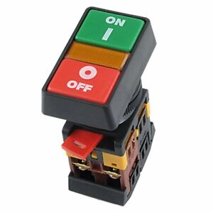 Industrial Machine On off Start stop Push Button Momentary Switch Red Green