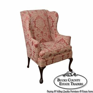 Southwood 18th Century Style Queen Anne Mahogany Wing Chair