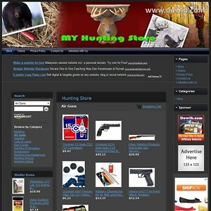 Hunting Store Professionally Designed Affiliate Website Free Domain hosting
