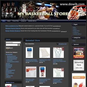 Basketball Store Turnkey Affiliate Website Dropship Free Domain