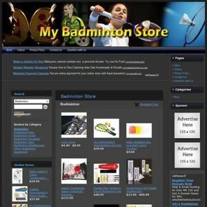 Badminton Store Fully Automated Functional Affiliate Website Great Income