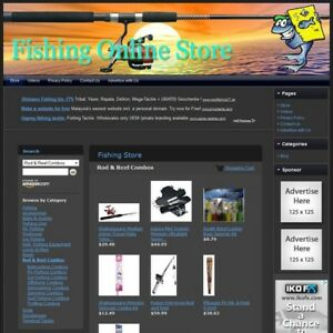 Fishing Store Top Dropship Website Faster Return On Investment Free Domain