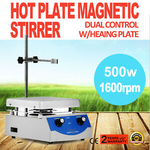 Sh 3 Hot Plate Magnetic Stirrer Mixer Stirring Digital Display Laboratory 500w
