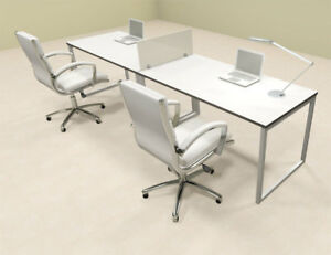Two Person Modern Acrylic Divider Office Workstation al opn sp1