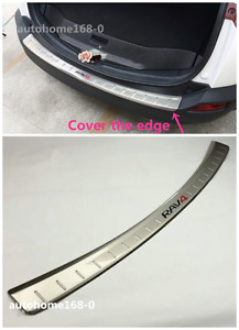 Stainless Steel Rear Bumper Protector Sill Plate Cover For 2013 2017 Toyota Rav4